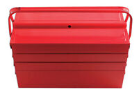 Laser Tools Red Steel Metal Tool Box Cantilever Tray with 7 Tray TOOLBOX 430mm
