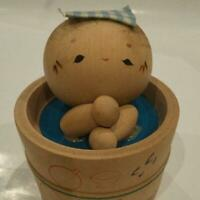 WOODEN JAPANESE HAND PAINTED KOKESHI DOLL OBJECTS
