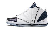 New Air Jordan 16 XVI Retro Midnight Navy White Size 18 683075 106