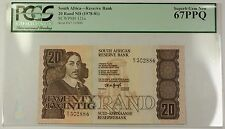 (1978-81) No Date South Africa 20 Rand Bank Note SCWPM# 121a PCGS Gem 67 PPQ