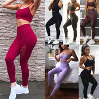 2PC Women/'s Top Pants Athletic Tracksuit Sport Suit Running Yoga Gym SweatSuit S