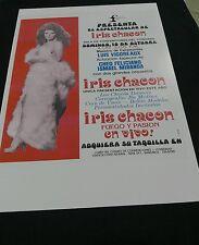 Iris Chacon ,Promo, Poster , Copy. Fiesta en Puerto Rico .Presenta.