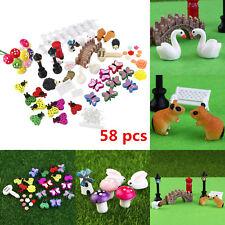 Objective 4pcs Micro Landscape Ornaments Creative Crafts Mini Cartoon Girls Garden Decor Home & Garden