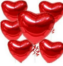 6 X RED LOVE HEART SHAPE FOIL BALLOONS WEDDINGS VALENTINES DAY PARTY DECORATIONS