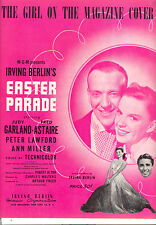 "EASTER PARADE Sheet Music ""Girl On The Magazine Cover"" Judy Garland Fred Astaire"