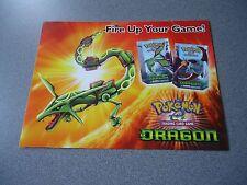 Pokemon Trading Card Game Dragon Flyer With EX Dragon Card Checklist
