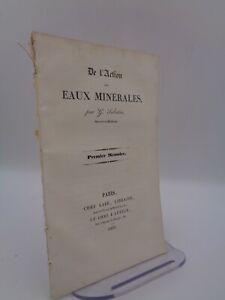 THERMALISME / G. Sabatin : De l'action des eaux minérales 1er mémoire 1839