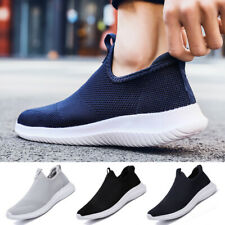 Men Womens Slip On Breathable Trainers Sock Shoes Running Tennis Fashion Sneaker