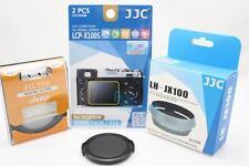 JJC 4PC KIT SET for Fujifilm X100T-49mm UV + Cap + Silver Lens Hood + Guard Film