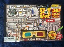 Spot What! PIPES 3D Jigsaw Puzzle, 3D Glasses. 250 pieces