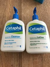 Two (2) Cetaphil Gentle Skin Cleanser 20 oz Face Hands Body Wash All Skin Types