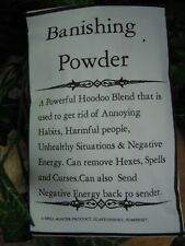 Banishing Powder spell supplies spells Witchcraft Pagan Occult
