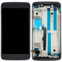 LCD Screen and Digitizer Full Assembly with Frame for BlackBerry DTEK50 (Black)