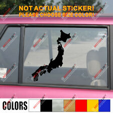 Map of Japan Japanese Decal Sticker Car Vinyl pick size color JDM