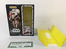 "Custom Vintage Star Wars 12"" Insertos + Caja Sandtrooper"