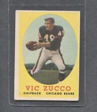 1958 Topps Football #36 Vic Zucco RC (Bears)  Vg-Ex  (Flat Rate Ship)