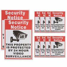 Security Notice Decal Camera Sign Sticker 24Hour Video Surveillance 10Pcs