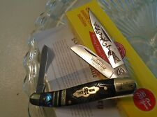 Kissing Crane Limited Peacock Genuine Abalone 3 Blade Stockman Pocket Knife 5404