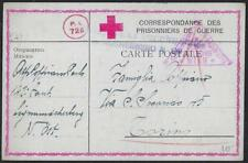 AUSTRIA ITALY 1918 WWI RED CROSS PRISONER OF WAR PC VIENNA TO TORINO
