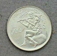 1981 San Marino moneta Lire 500 Argento Virgilio Pastore Pan che suona flauto