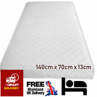 Junior Bed Mattress Quilted Baby Cotbed Mattres Waterproof Breathable 140x70x13