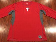 Nike Men's Philadelphia Phillies Pro Long Sleeve DriFit Jersey Shirt XXL 2XL MLB