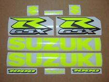 GSXR 1000 neon fluo yellow decals stickers graphics kit set fluorescent signal