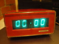 RARE VINTAGE SOVIET RUSSIAN USSR VFD NIXIE TUBE CLOCK ELEKTRONIKA  6 RED COLOR