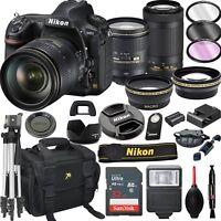 Nikon D850 FX DSLR Camera with 24-120mm + 70-300mm VR  Lenses+ 20pc Bundle