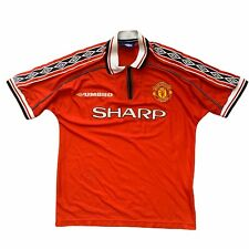 1998 00 Manchester United Home Football Shirt - M Original Authentic Vintage