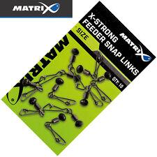 Fox Matrix X-Strong Feeder Snap Links - 10 Wirbel, Karabinerwirbel, Angelwirbel