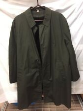 All Weather Coat Button Front Insulated, Sz 42R, Dark Green Mens Vintage