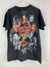 WWE Wrestling RAW Superstars John Cena HHH Stone Cold 2008 Black T Shirt Medium