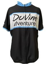 Sugoi Cycling Jersey Women's size XL DuVine Adventures Full Zip Black White