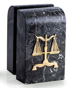 BOOKENDS - SCALES OF JUSTICE MARBLE BOOKENDS - LAWYERS & LEGAL