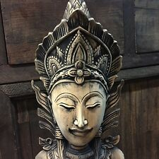 Wood Carved Vintage Buddha Buddhism Sculpture old style Retro home decor rare!
