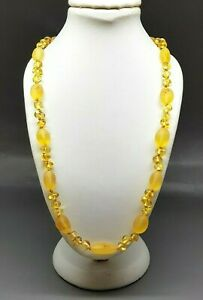 """19"""" Beautiful Genuine Baltic Amber Necklace for Woman Citrine"""