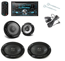 """Kenwood 6-1/2"""" And -6x9"""" speakers W/ Kenwood Double Din Bluetooth Radio Receiver"""