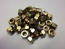 (QTY 4) M10 GENUINE AEROTIGHT®  METAL SELF LOCKING NUTS STEEL ZINC/YELLOW PLATED