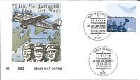 German First Day Cover 75 Jahre Nordatlantik Ost-West No. 52 2003 Berlin Z5359