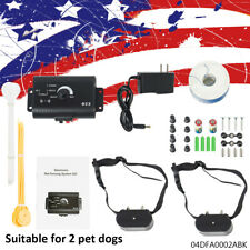 For 2 Dogs Electric Dog Pet Fence Shock Collars Fence System Usa Stock New