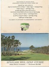 1970 Score Card from the Spyglass Hill Golf Course Pebble Beach CA