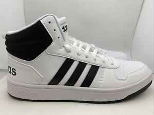 Adidas Hoops 2.0 Mid FY8617 White/Core Black Sz 11