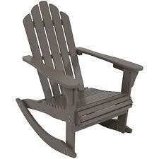 Sunnydaze Outdoor Wooden Adirondack Rocking Chair - Gray
