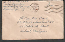 WWII cover a/c R C Christie USNR Cowboy Dormitory University of Wyoming Laramie