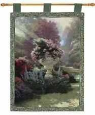 BRAND NEW Thomas Kinkade Garden of Hope Tapestry Wall Hanging