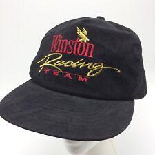 8b075060fc5 Winston Racking Team Black Ball Cap Trucker Hat Adjustable Embroidered  Snapback