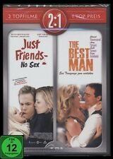 DVD JUST FRIENDS - NO SEX + THE BEST MAN - 2 FILME SET - Romantik-Komödie *NEU