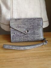 New listing Michael Kors Reptile Texture Cell Phone Wristlet Wallet Fits iPhone 4-4s Euc