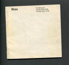 *V* Gebrauchsanleitung Instruction - NIZO S80 / S56